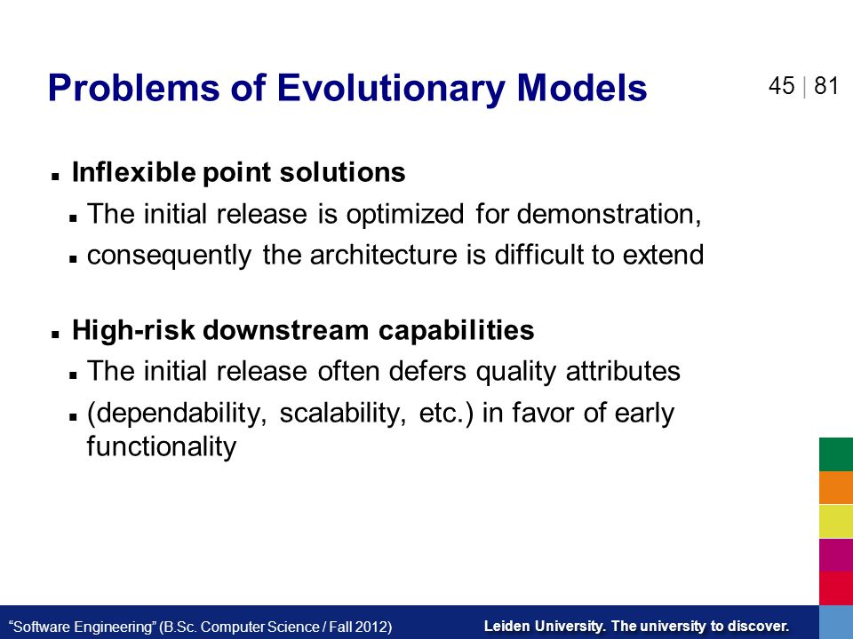 Problems of Evolutionary Models