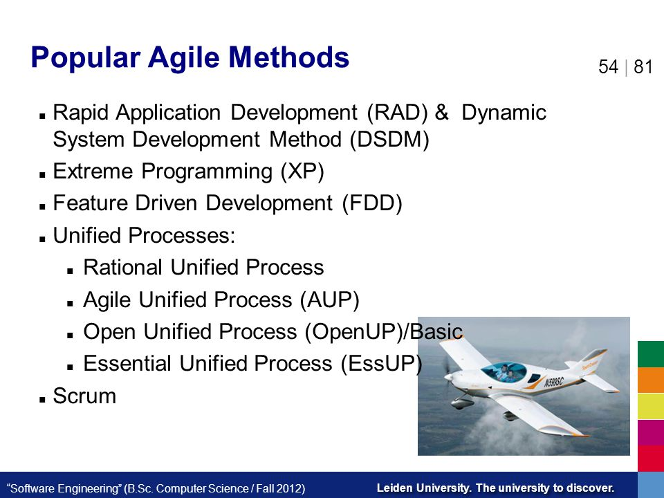 Popular Agile Methods Rapid Application Development (RAD) & Dynamic System Development Method (DSDM)