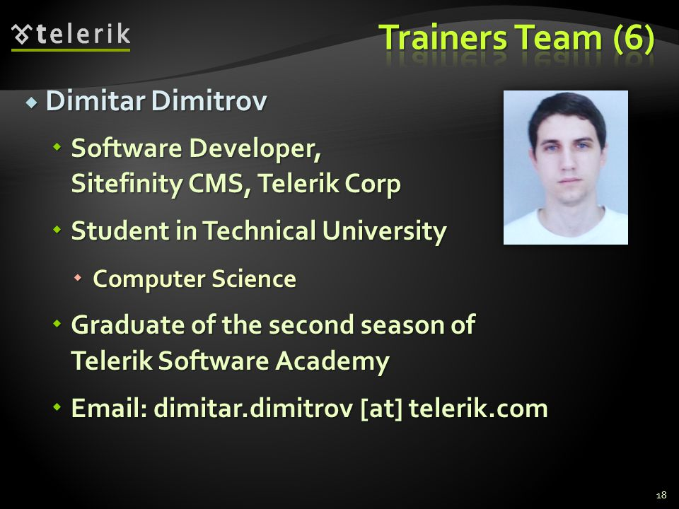 Trainers Team (6) Dimitar Dimitrov