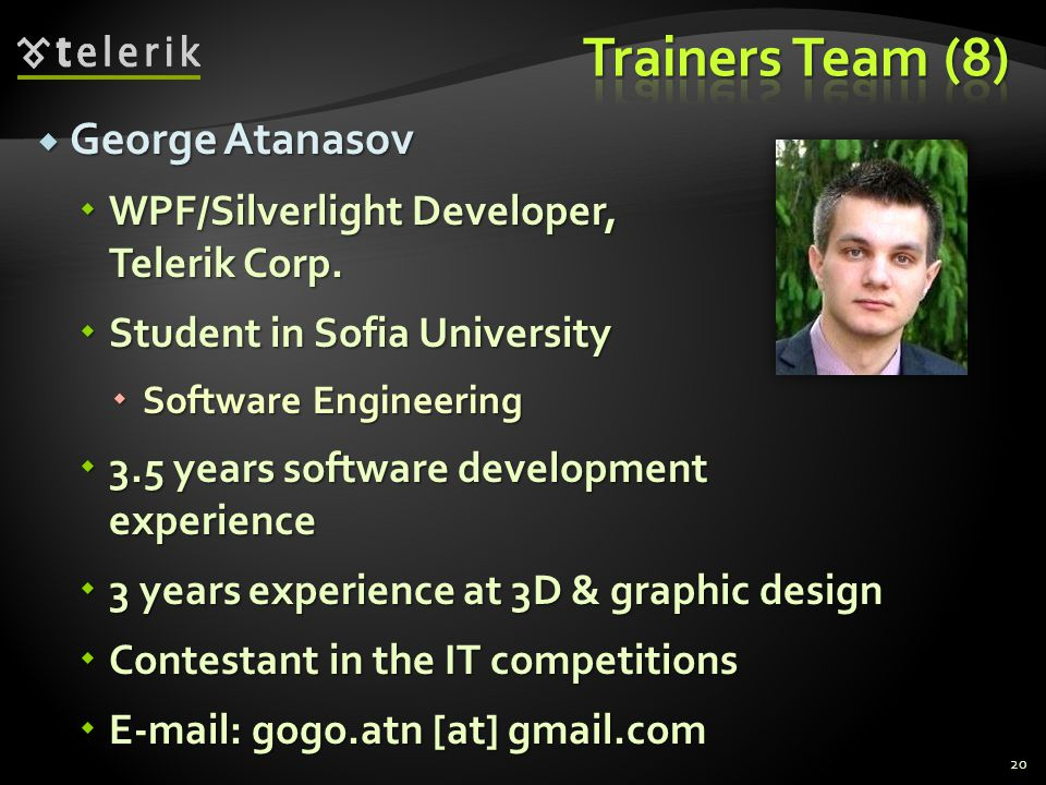 Trainers Team (8) George Atanasov