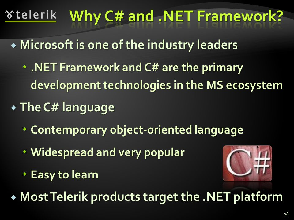 Why C# and .NET Framework