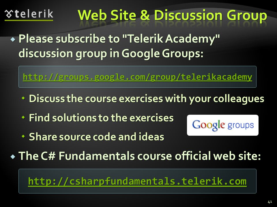 Web Site & Discussion Group