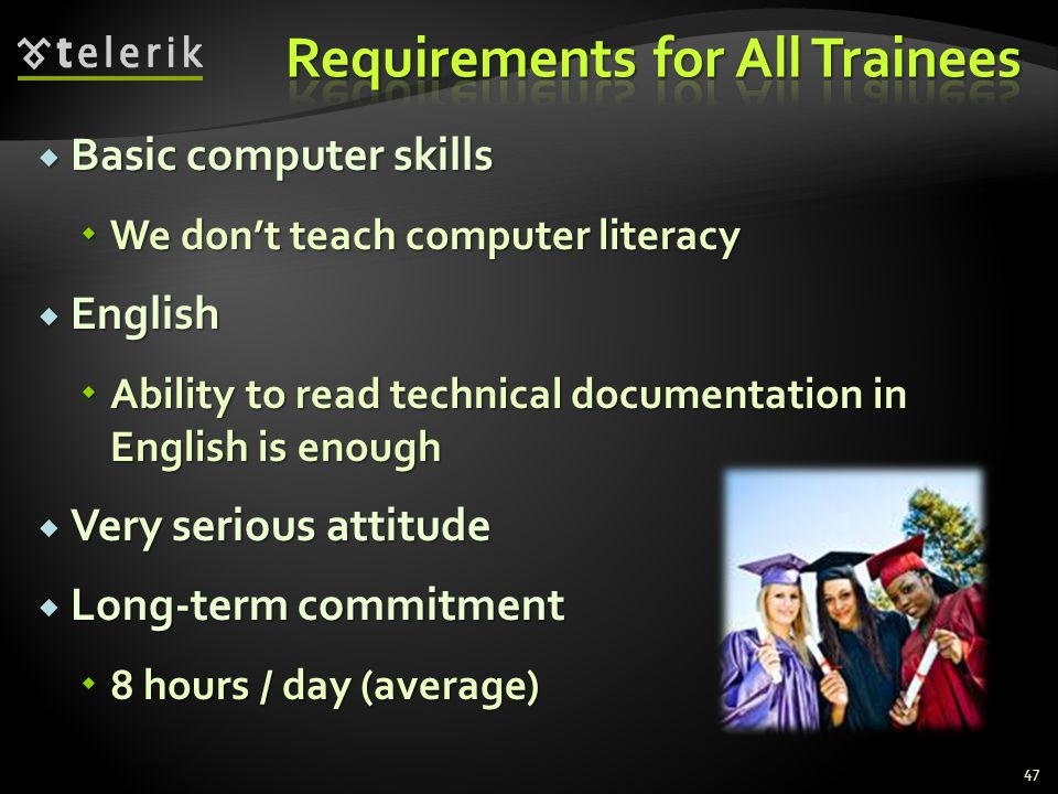 Requirements for All Trainees