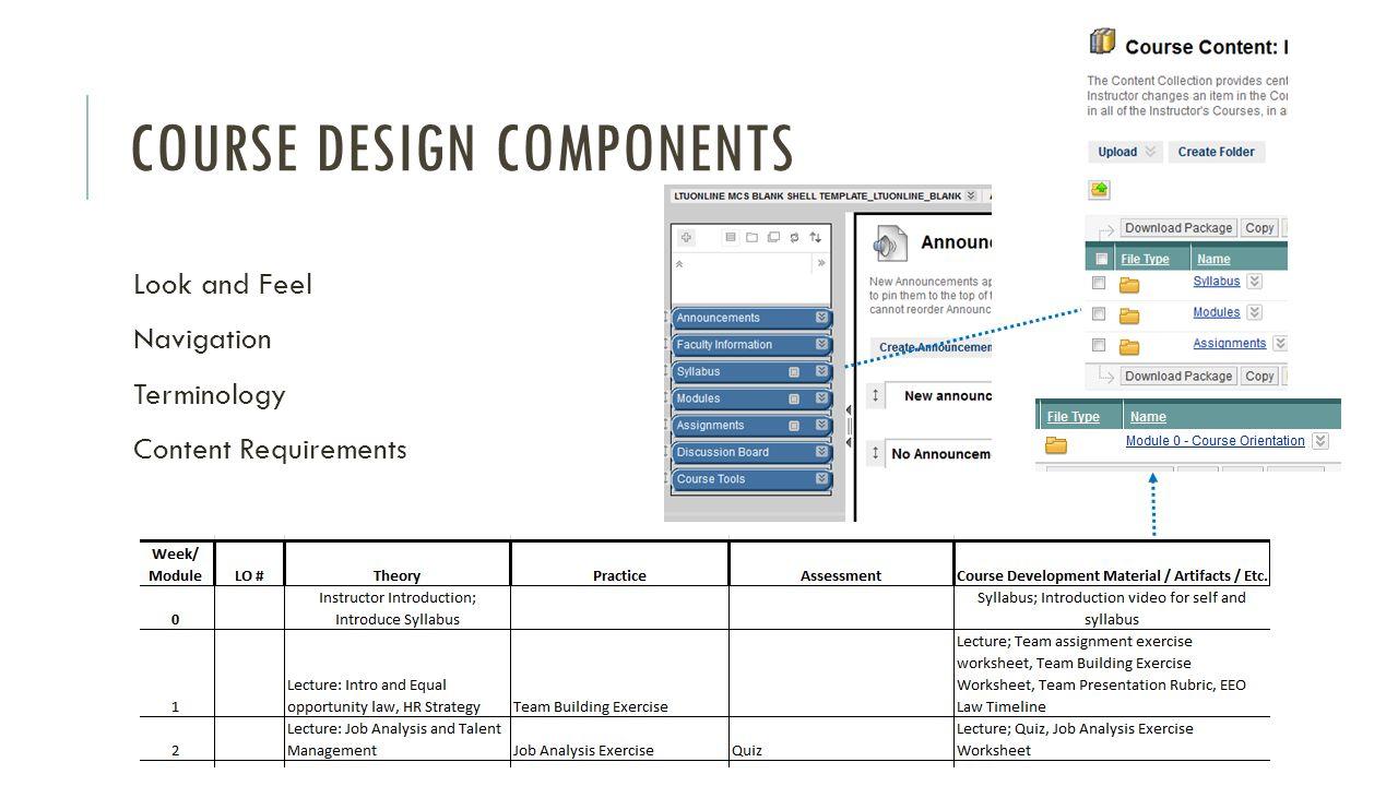 Course design components