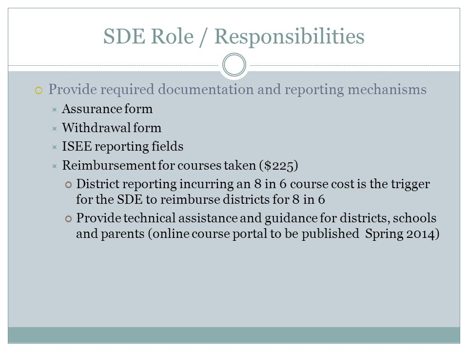 SDE Role / Responsibilities
