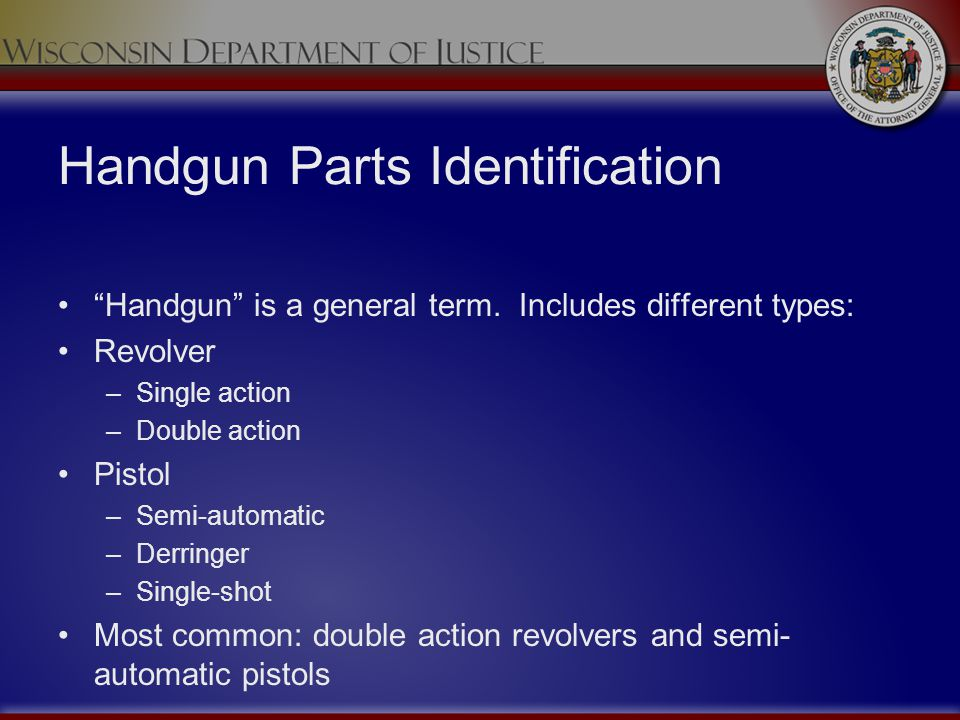 Handgun Parts Identification