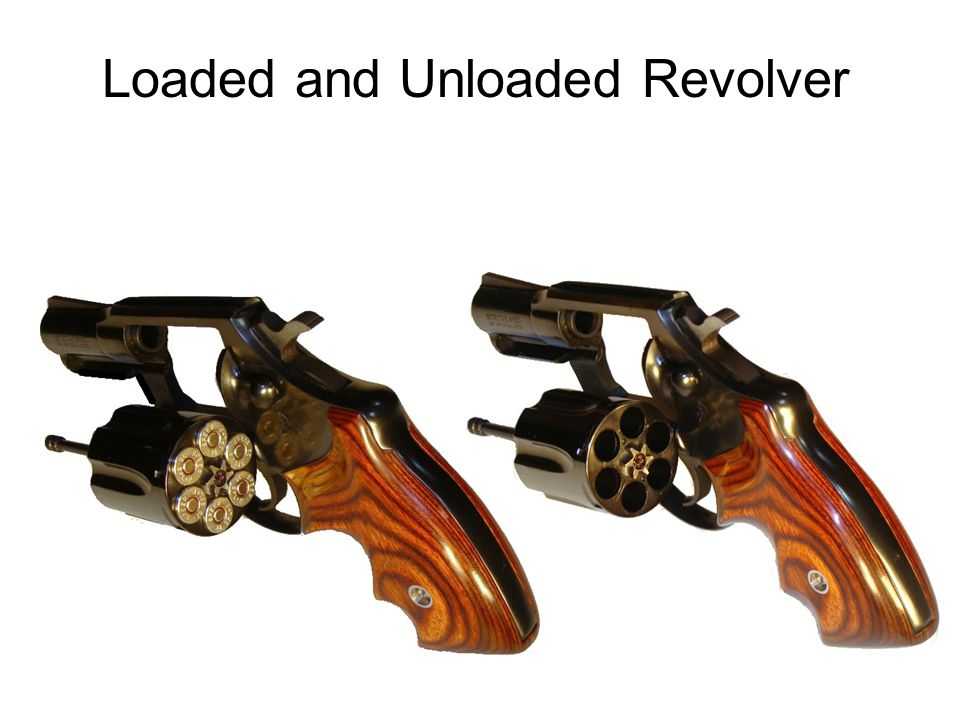 Loaded and Unloaded Revolver