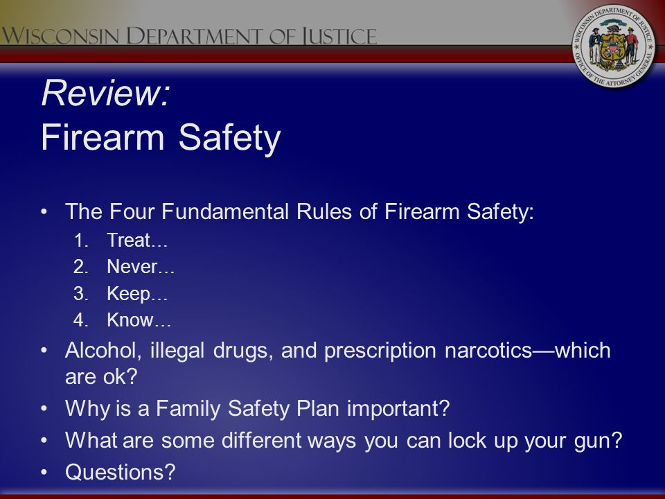Review: Firearm Safety