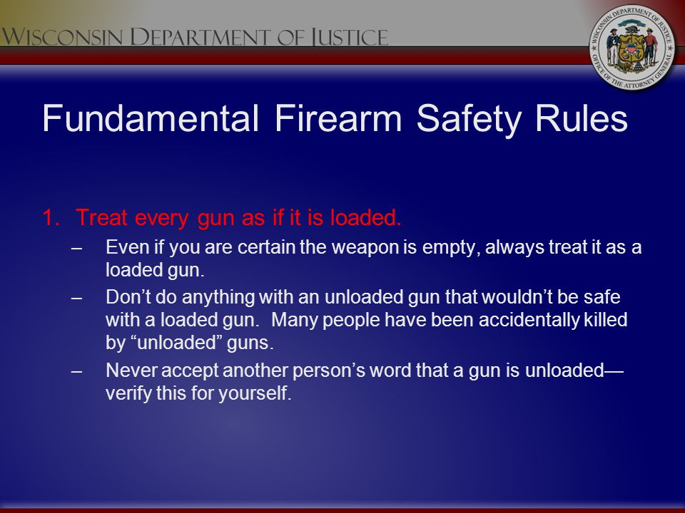 Fundamental Firearm Safety Rules
