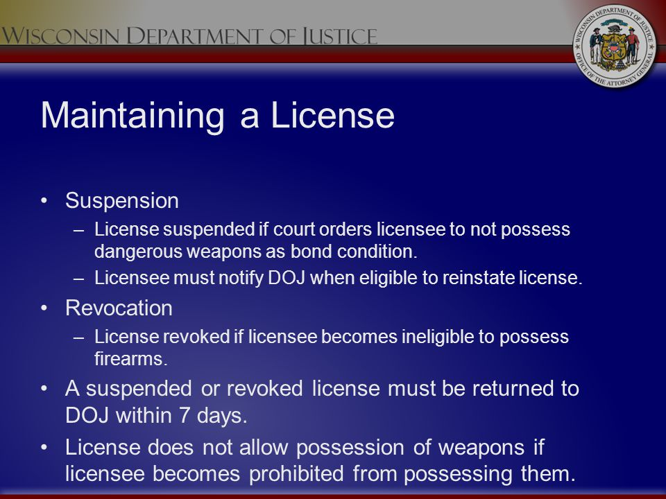 Maintaining a License Suspension Revocation