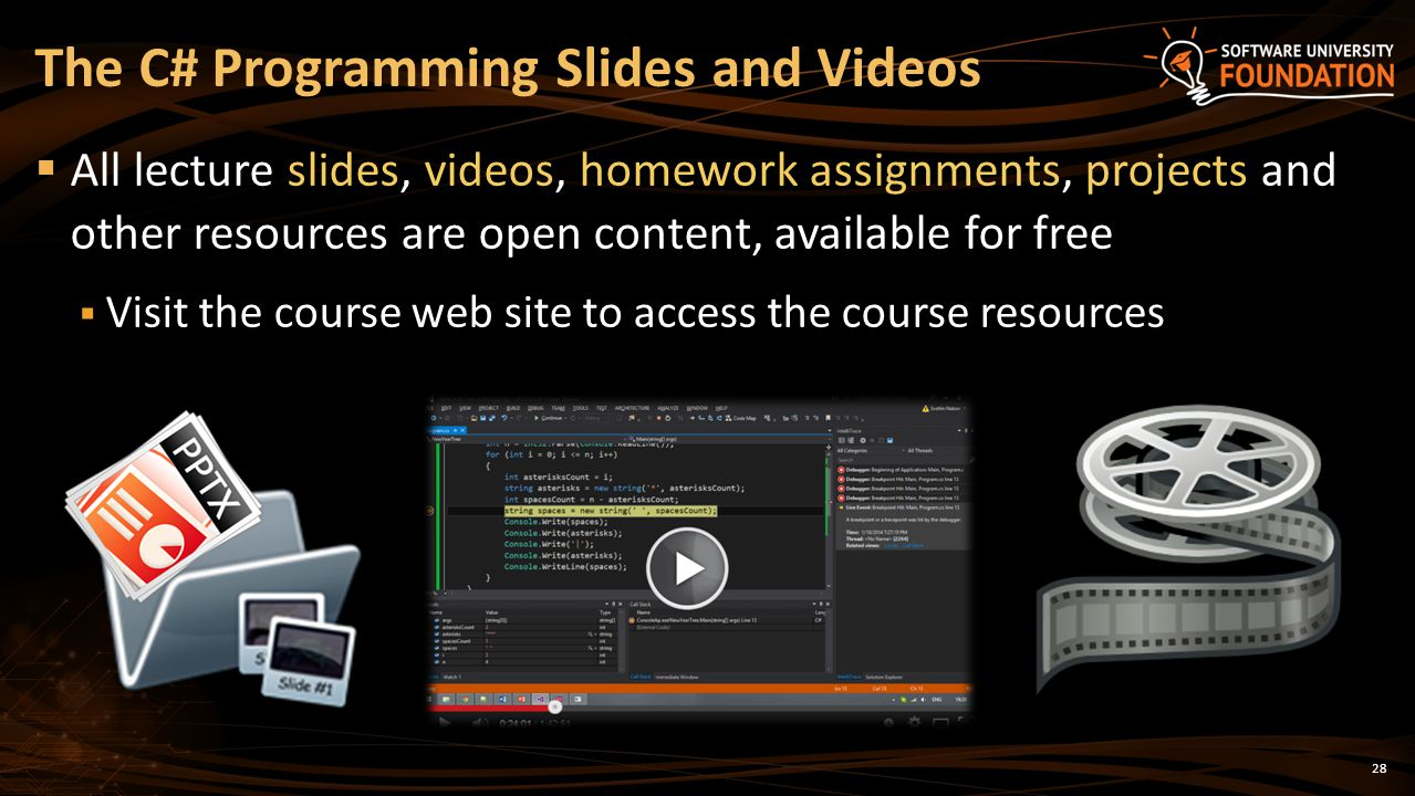 The C# Programming Slides and Videos