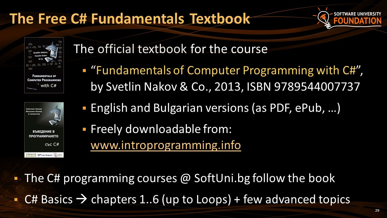 The Free C# Fundamentals Textbook