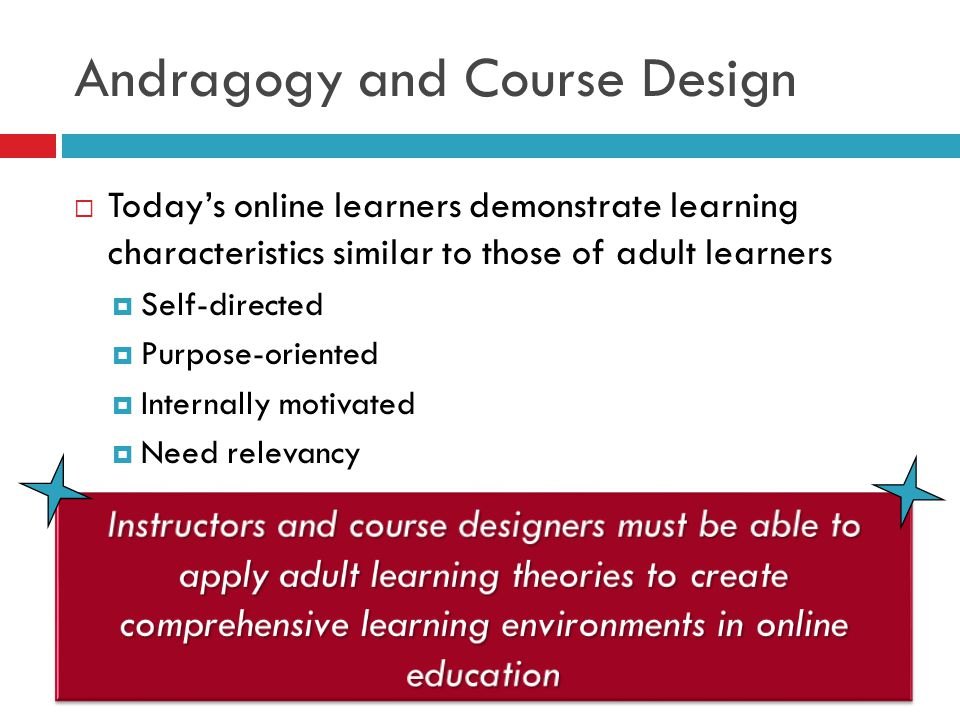 Andragogy and Course Design