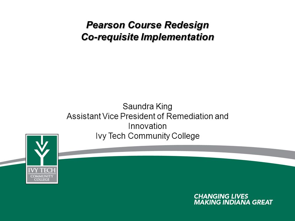 Pearson Course Redesign Co-requisite Implementation
