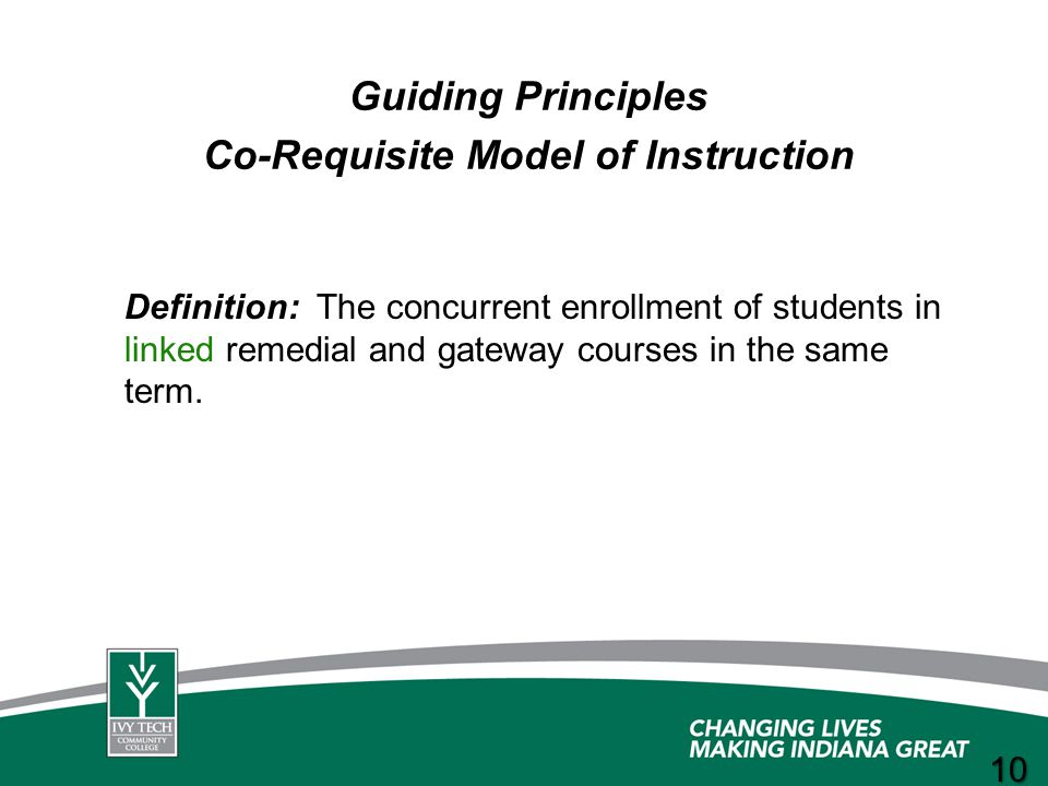 Co-Requisite Model of Instruction