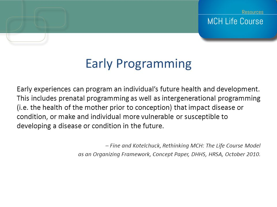 Early Programming