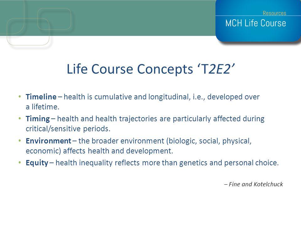 Life Course Concepts 'T2E2'
