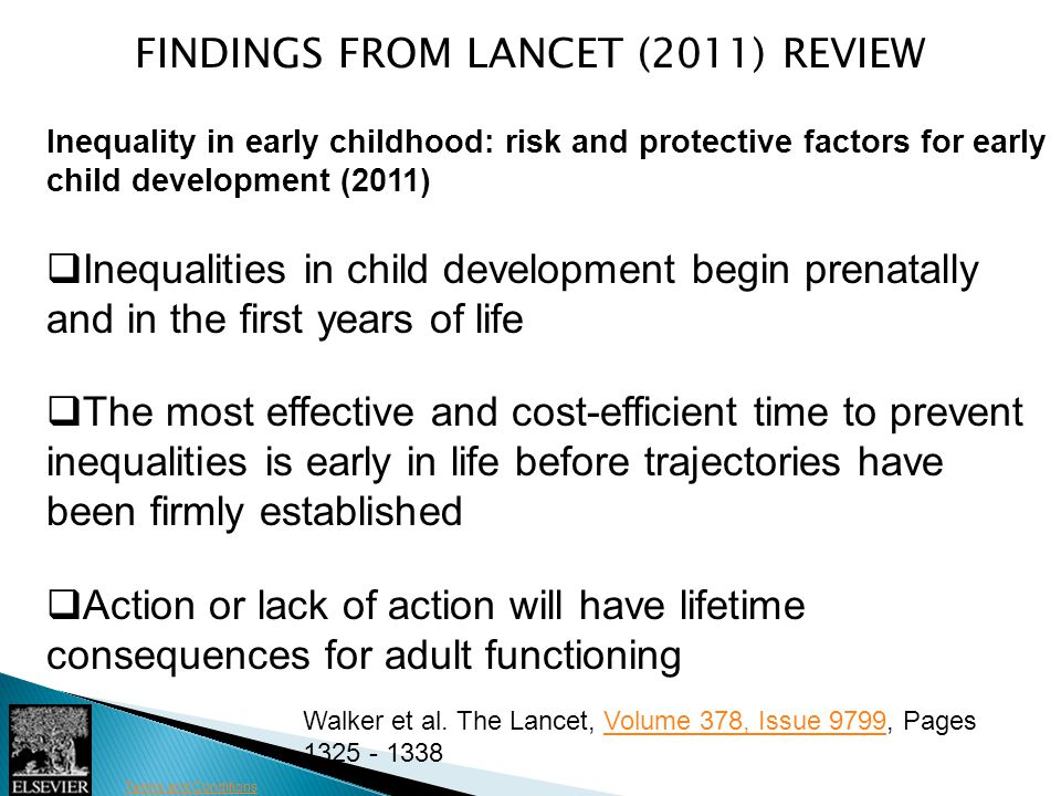FINDINGS FROM LANCET (2011) Review