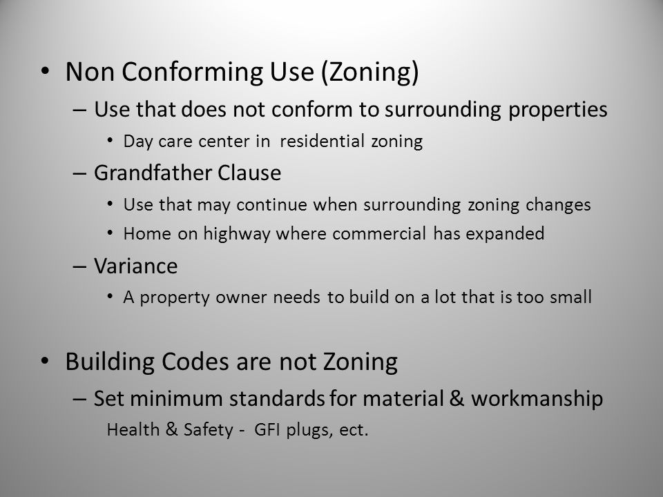 Non Conforming Use (Zoning)