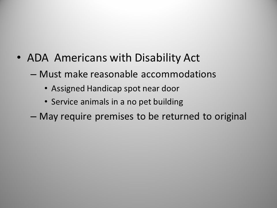 ADA Americans with Disability Act