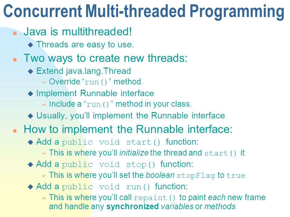 Concurrent Multi-threaded Programming
