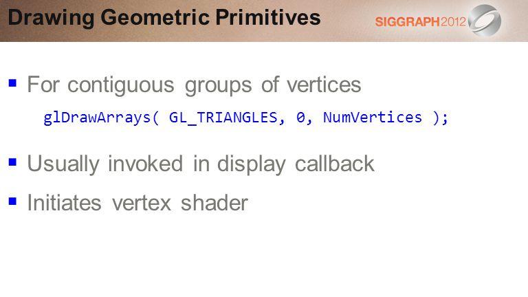 Drawing Geometric Primitives