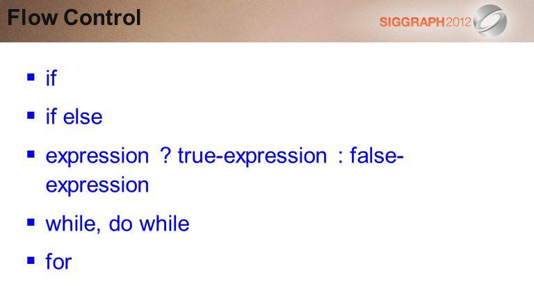 expression true-expression : false- expression