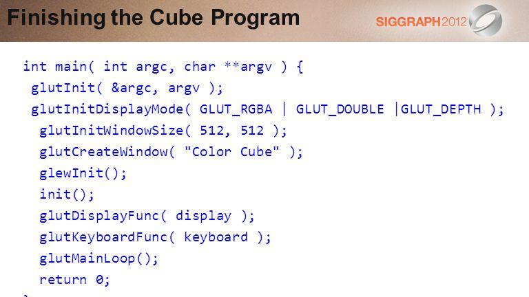 Finishing the Cube Program