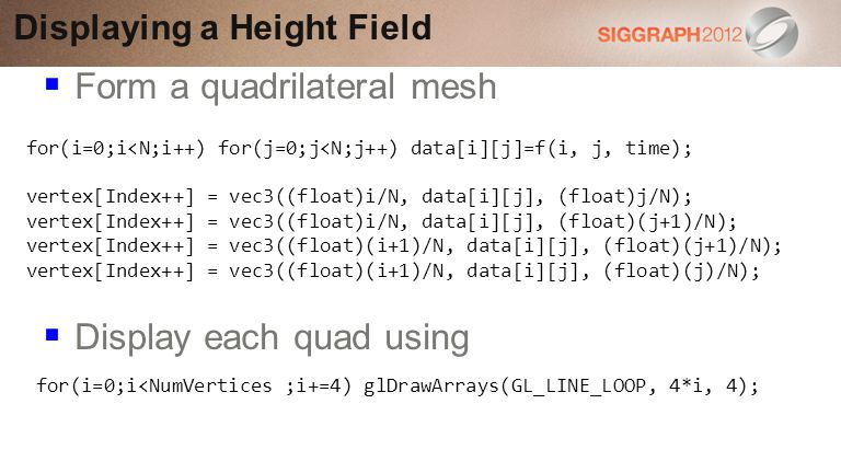 Displaying a Height Field