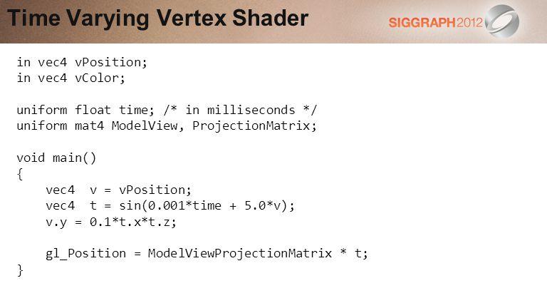 Time Varying Vertex Shader