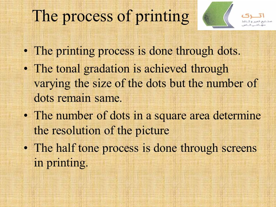 The process of printing