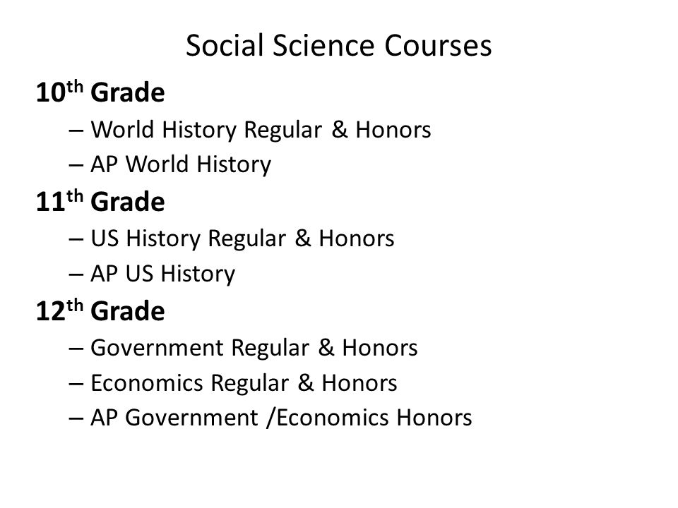 Social Science Courses