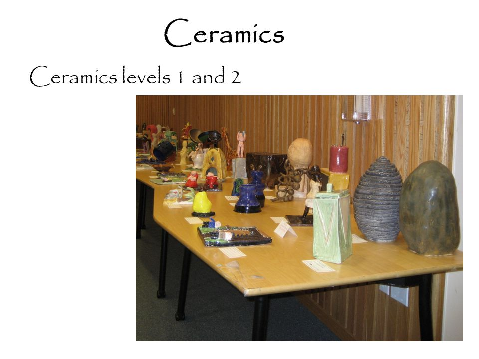 Ceramics Ceramics levels 1 and 2