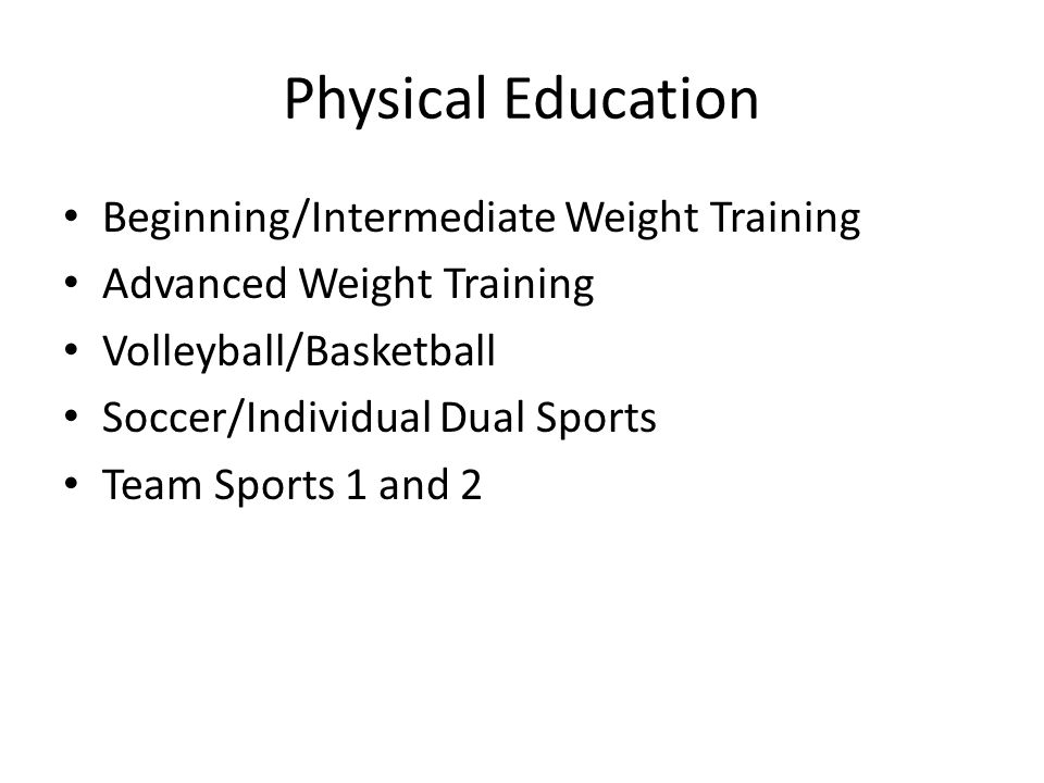 Physical Education Beginning/Intermediate Weight Training