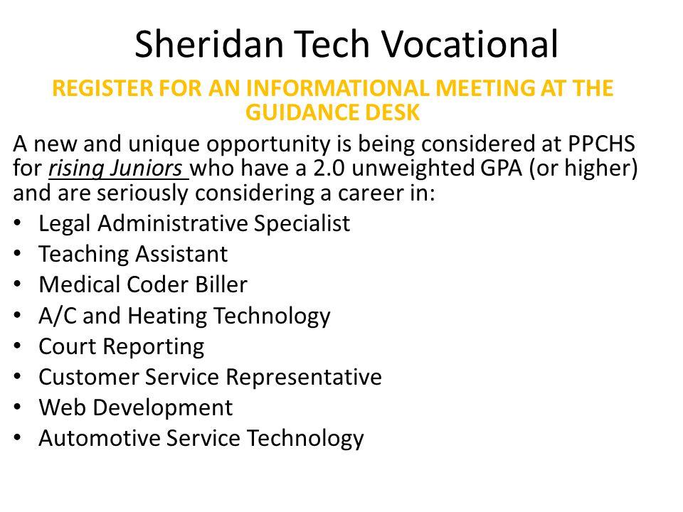 Sheridan Tech Vocational