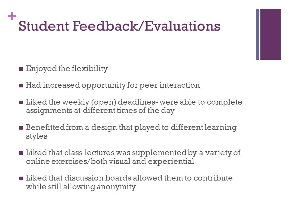Student Feedback/Evaluations