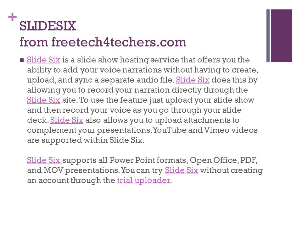 SLIDESIX from freetech4techers.com