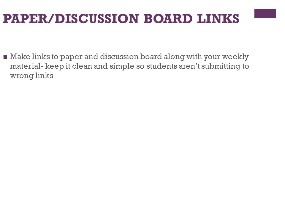 PAPER/DISCUSSION BOARD LINKS