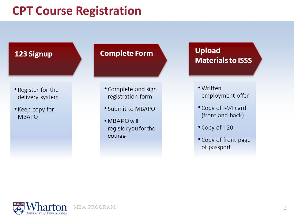 CPT Course Registration