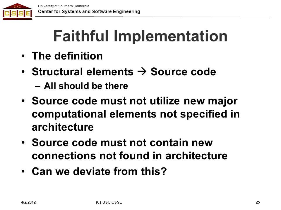 Faithful Implementation