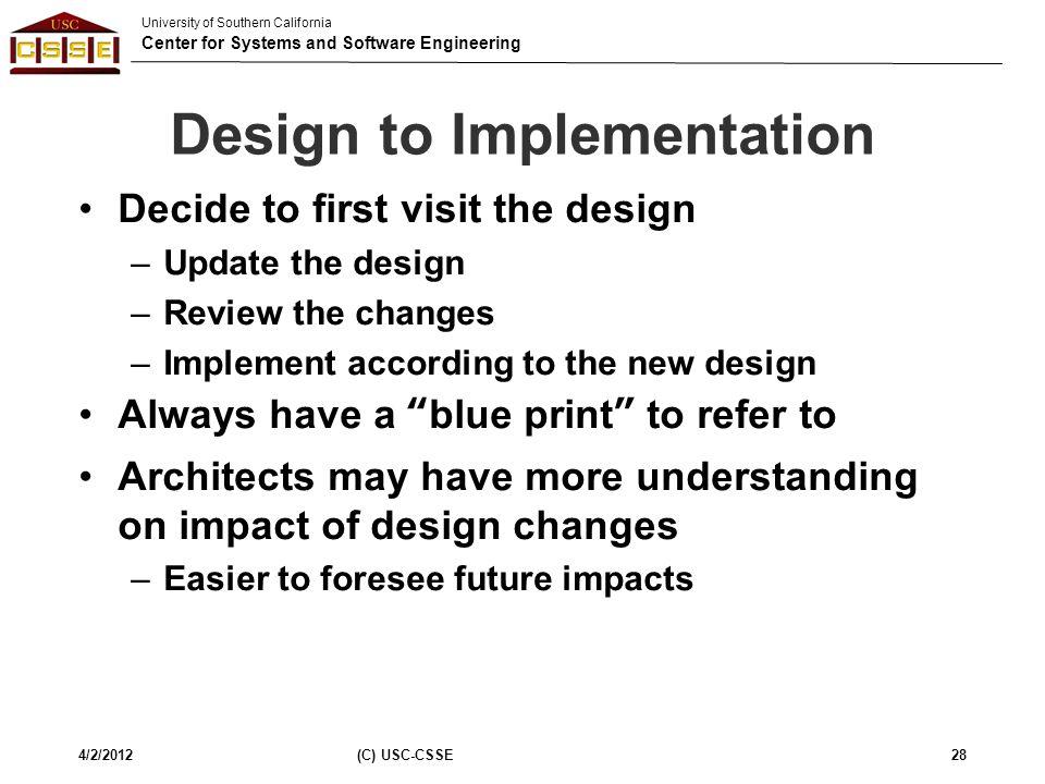 Design to Implementation