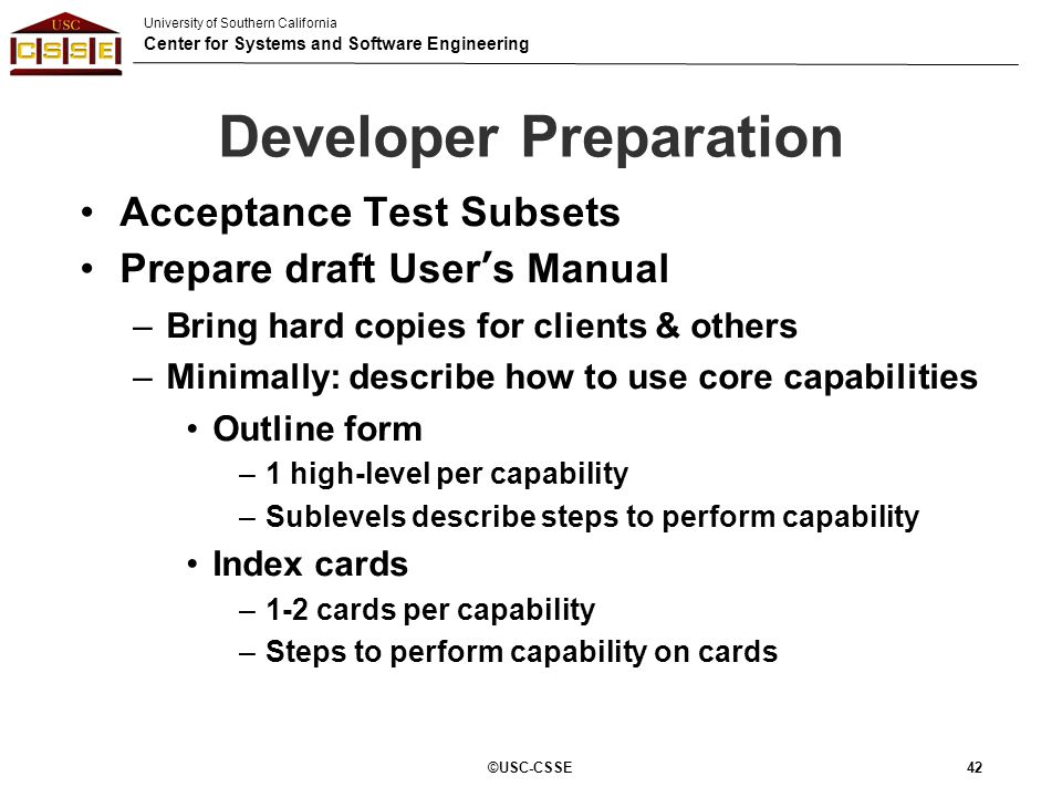 Developer Preparation