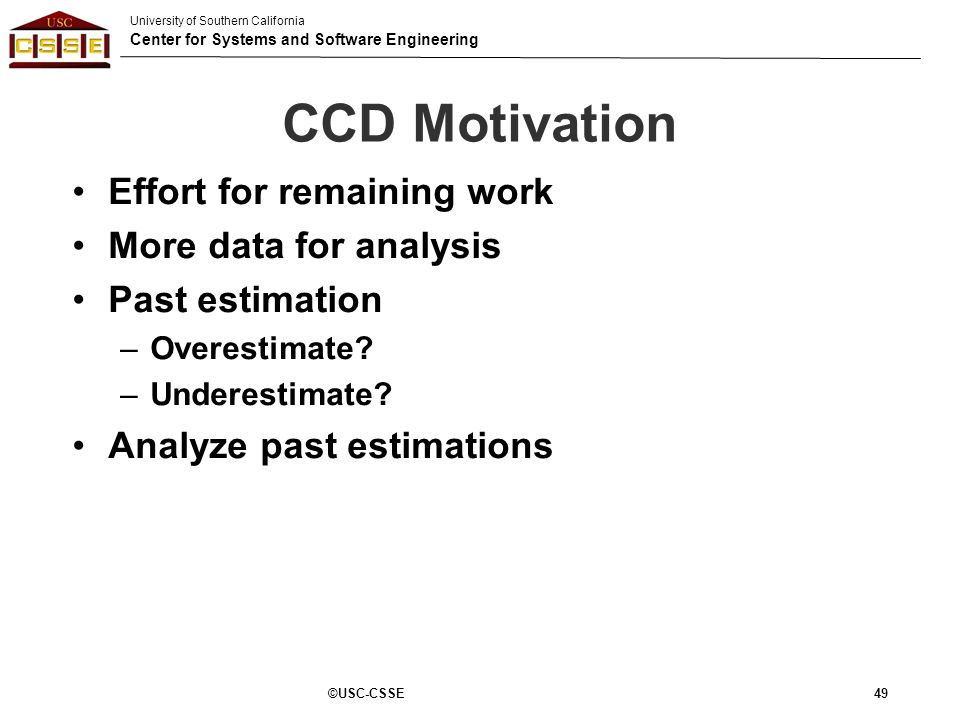 CCD Motivation Effort for remaining work More data for analysis