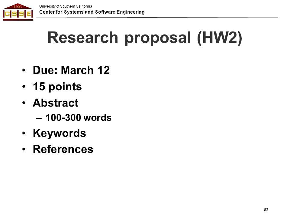 Research proposal (HW2)