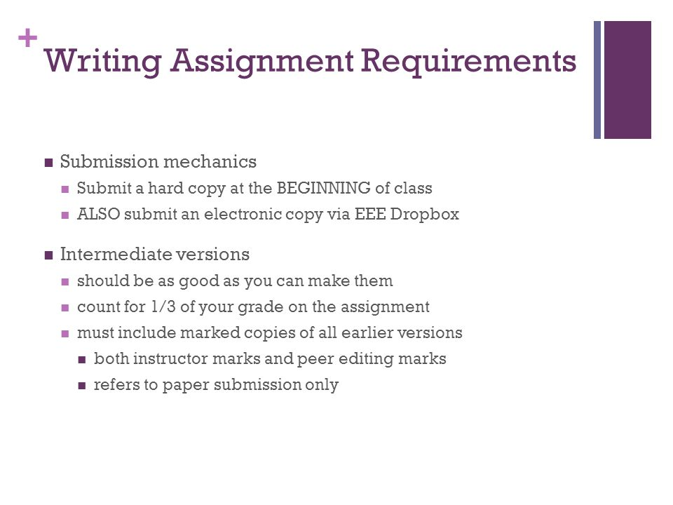 Writing Assignment Requirements