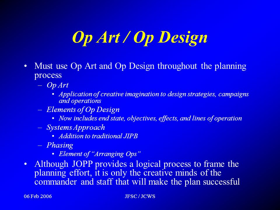 Op Art / Op Design Must use Op Art and Op Design throughout the planning process. Op Art.