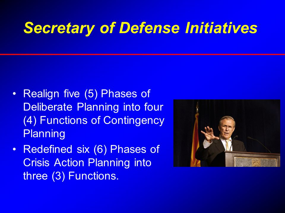 Secretary of Defense Initiatives