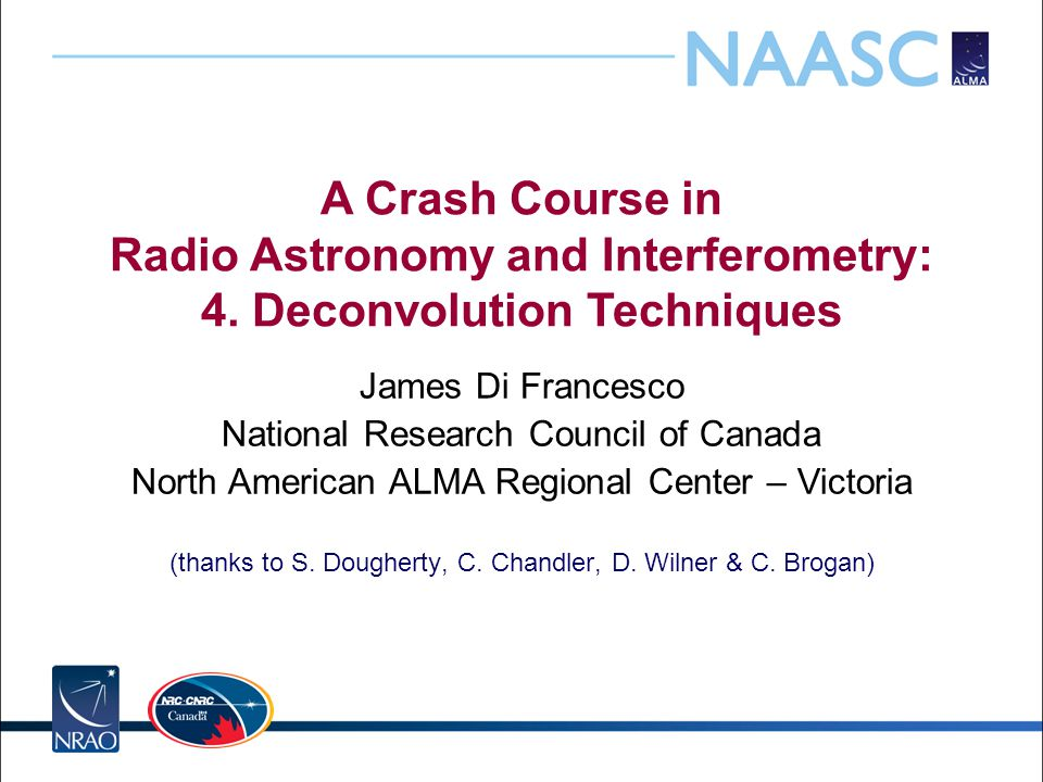 A Crash Course in Radio Astronomy and Interferometry: 4