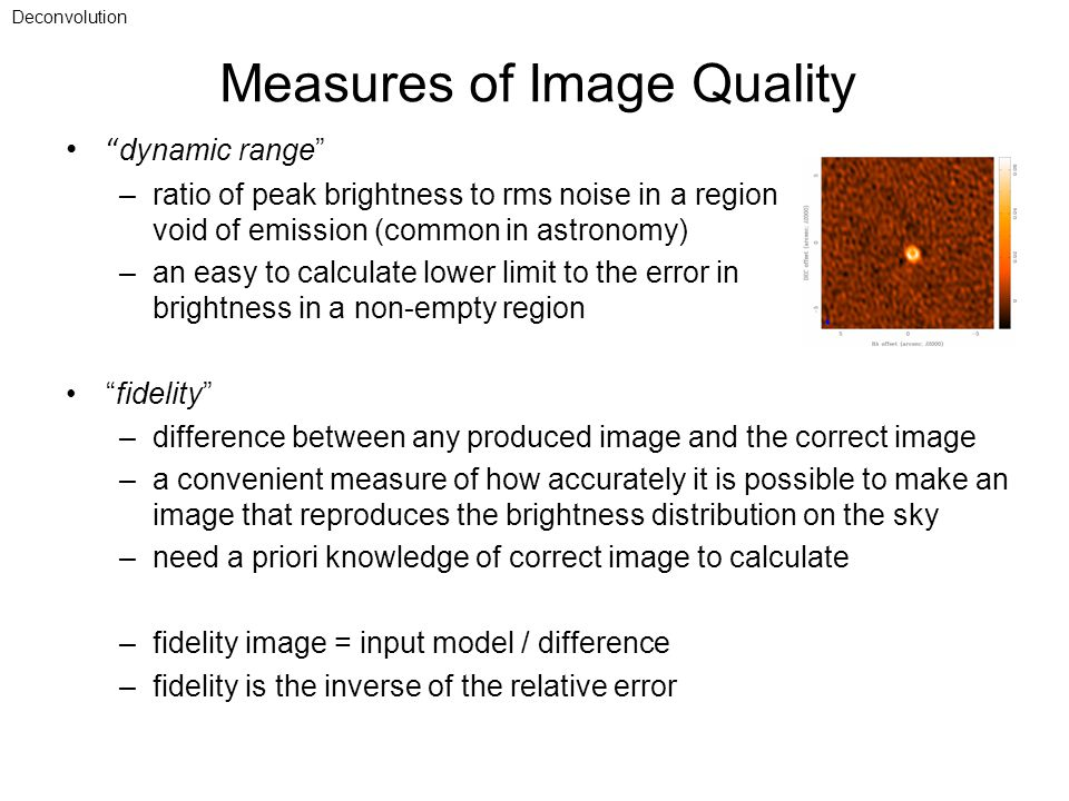 Measures of Image Quality