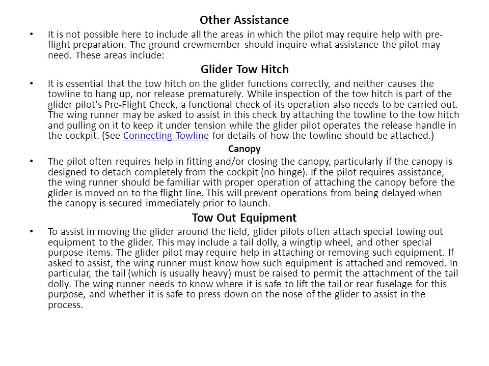 Other Assistance Glider Tow Hitch Tow Out Equipment